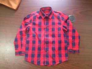 checkered shirt - final product